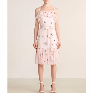 NWT Betsey Johnson Frilly Bugs Ruffle Midi Dress